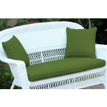 Hunter Green Loveseat Cushion with Pillows