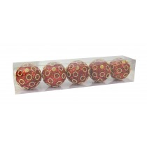 5Pcs Red Christmas Ornament