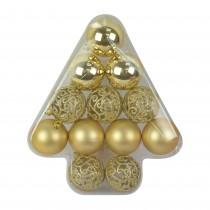 12Pcs Gold Christmas Tree Shape Ornament