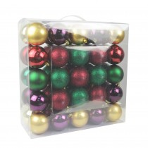 "Combo 50Pc 3""  Shiny Glitter Square-Festive Blooms Christmas Ornament"