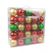 "Combo 50Pk 3""  Shiny Glitter Square- Red/Green/Gold Christmas Ornament"