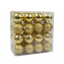 """Gold 32pc 1.5"""" Christmas Ornament"""