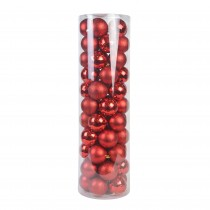 Combo 55Pc Christmas Ornament-Red