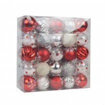 50 Pk Christmas Ornament Dec Orn Set- Mix Color