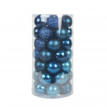 48Pk Christmas Ornament- Blue