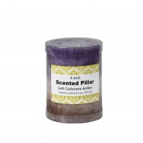 3 x 4 Inch Purple Sand Scented Pillar Candle(24pcs/Case)