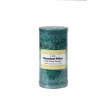 3 x 6 Inch Tritone Blue/Teal Scented Pillar Candle(12pcs/Case)