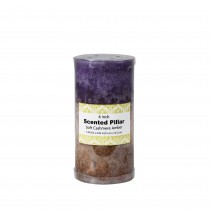 3 x 6 Inch Purple Sand Scented Pillar Candle(12pcs/Case)