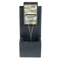 32 Inch Contemporary  Finish with Rock Texture Fountain and Led Light
