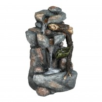 26 Inch Rock Fountain with Led Light