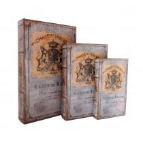 Chateau Renier Royal Crest Book Box (Set of 3)
