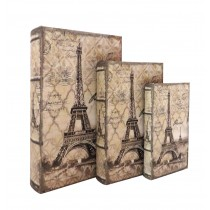 Eiffel Tower Book Box (Set of 3)