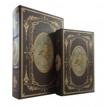 Yellow Songbird Book Box (Set of 2)