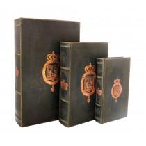 Royal Crest Book Box (Set of 3)