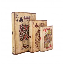 Playing Cards Book Box (Set of 3)