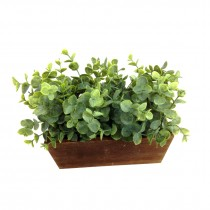 Atificial Plant with Wooden Pot