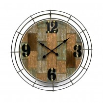 Rustic-style wall Clock