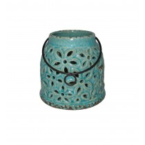 "6""H ceramic candle holders"