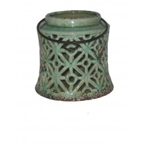 "5.7""H ceramic candle holders"