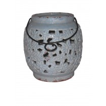 "6.3""H ceramic candle holders"