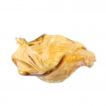 "Acholla 9.5"" Glass Bowl (Amber)"