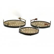 Arrowhead Round Storage Tray (Set of 3)