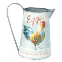watering can with rooster pattern