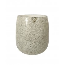 """Atella 6.9"""" x 7.1"""" Round Glass Vase"""