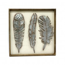 Metallic Feathers Wall Decor