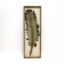 Silver-colored Metallic Feather Wall Decor