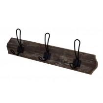 "19.75""L Wood and Metal Hook"