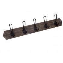 "27.75""L Wood and Metal Hook"