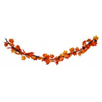 6Ft Maple /Berry/Pinecone Garland -Red/Burgundy