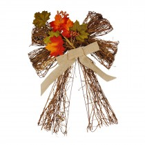 Harvest Twig Bow -Pumkin