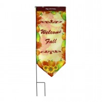 Harvest Flag With Stake-Welcome Fall