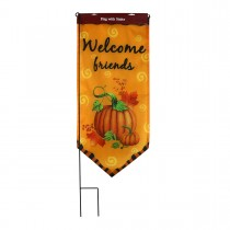 Harvest Flag With Stake-Welcome Friends