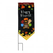 Harvest Flag With Stake-Happy Harvest