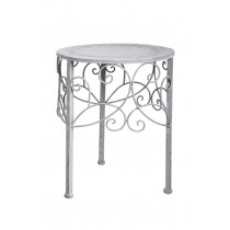 "13.0"" Bouleurs Round Metal Plant Stand"