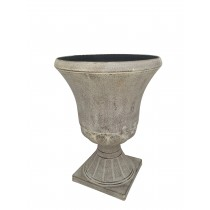 S/2 URN PLANTER WHITE WASH