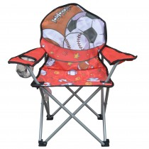 Jeco Kids Outdoor Folding Lawn and Camping Chair with Cup Holder,Sport Camp Chair