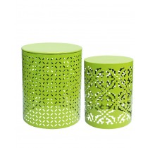 S/2 PLANT STAND LIME GREEN