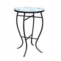 14In Mosaic blue side table