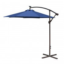 Blue 10FT Offset Solar Umbrella