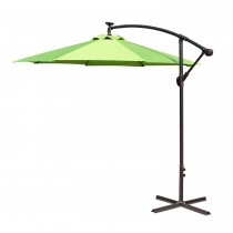Lime Green 10FT Offset Solar Umbrella