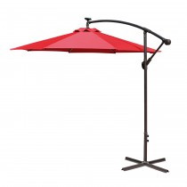 Red 10FT Offset Solar Umbrella