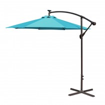 Turquoise 10FT Offset Solar Umbrella