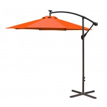 Orange 10FT Offset Solar Umbrella