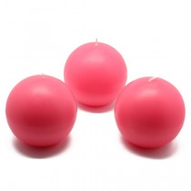 "3"" Hot Pink Ball Candles (6pc/Box)"