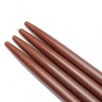 """10"""" Brown Taper Candles (1 Dozen)"""