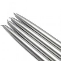 "10"" Metallic Silver Taper Candles (1 Dozen)"